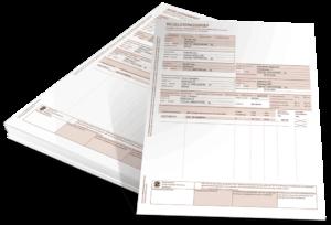Pagina 1 en 2 van de begeleidinsbrief voor afvalstoffen