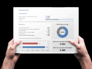 Hoe moet je het netto loon berekenen in Excel?