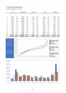 Financieel rapport in Excel voorbeeldpagina