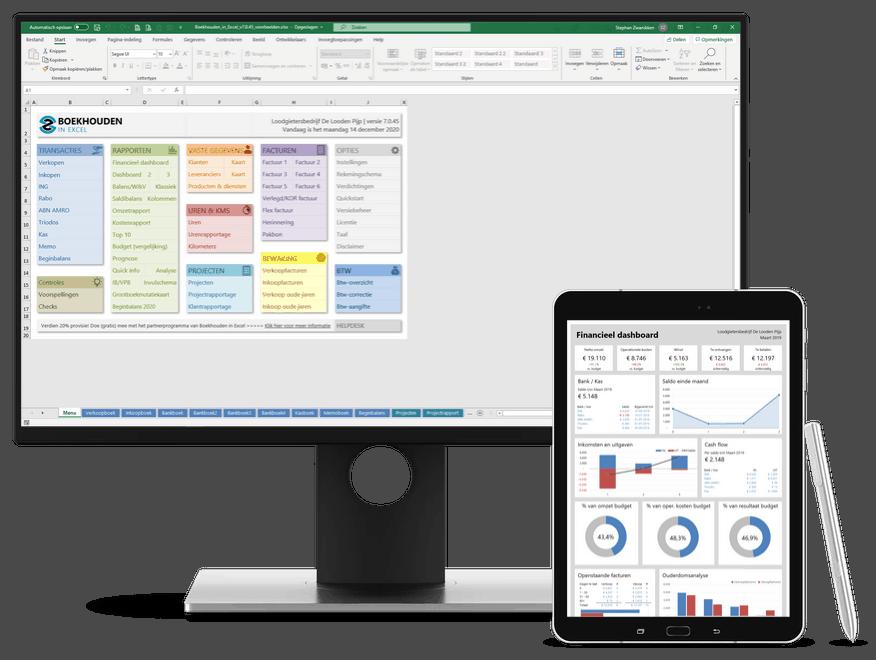 Boekhouden in Excel 7.0 met nieuw financieel dashboard