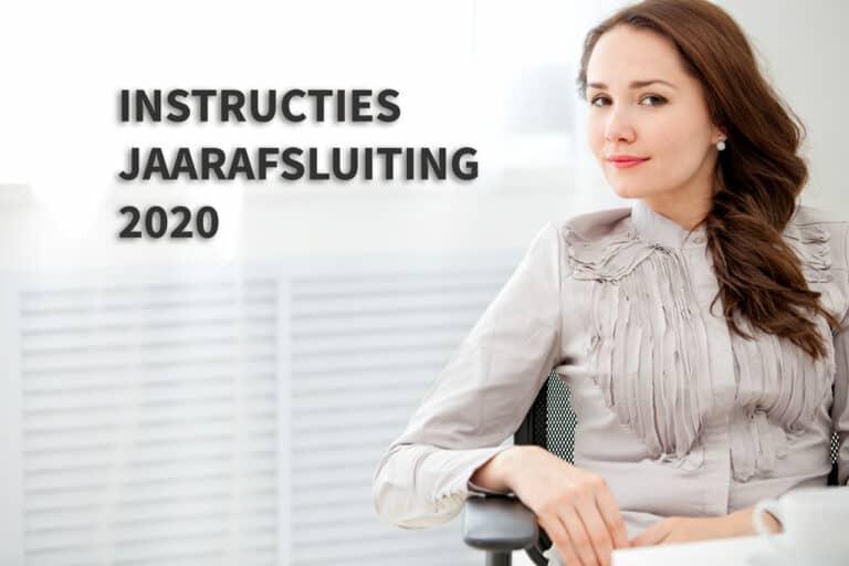 Instructies jaarafsluiting 2020