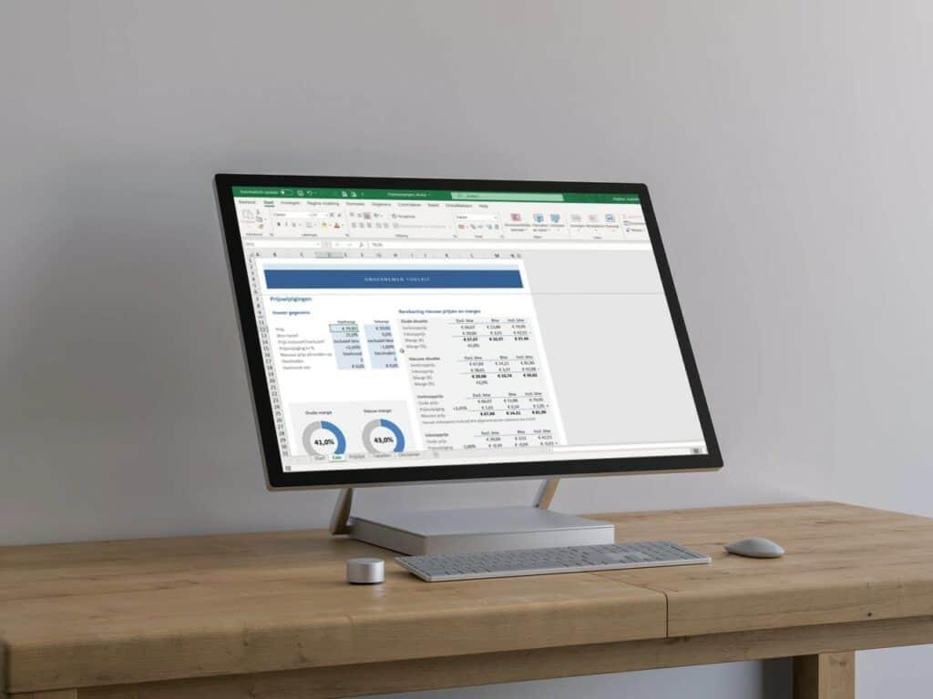 Prijswijzigingen berekenen in Excel