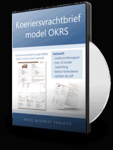 Koeriersvrachtbrief in Excel model OKRS