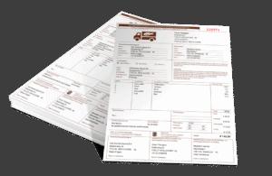 Een stapel koeriersvrachtbrieven in Excel model OKRS