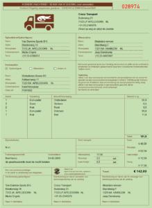 Koeriersvrachtbrief in Excel model OKRS - groen