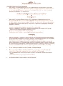 Koeriersvrachtbrief in Excel model OKRS - achterkant