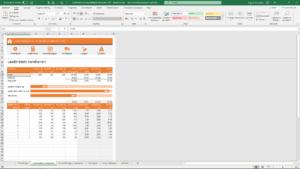 screenshot laadmeters berekenen in excel