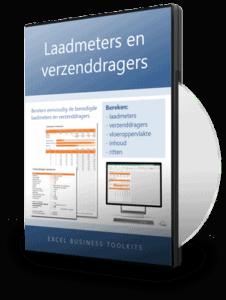 Laadmeters en verzenddragers berekenen in Excel