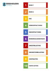 Excel template – inhoudsopgave 1-10 tabbladen