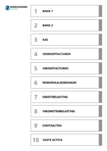 Excel template 3 – inhoudsopgave 1-10 tabbladen