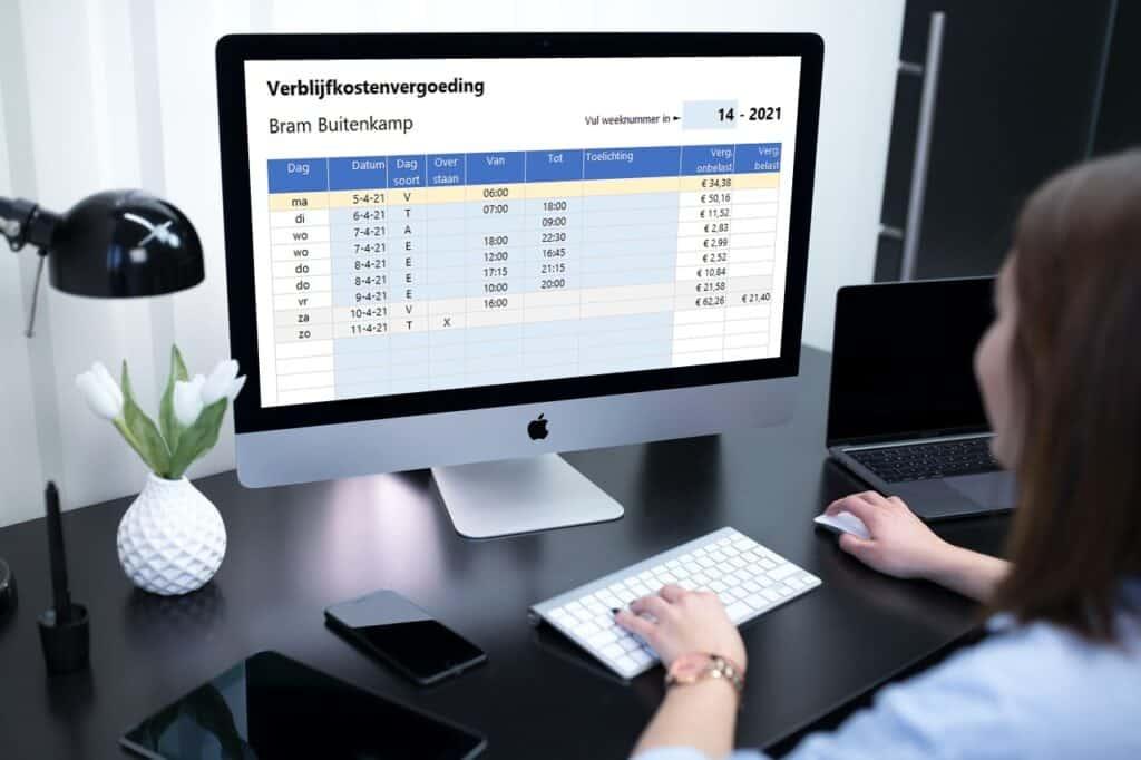 Zelf de verblijfskostenvergoeding berekenen in Excel zonder dure software