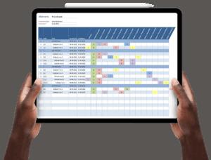 RACI-model maken in Excel