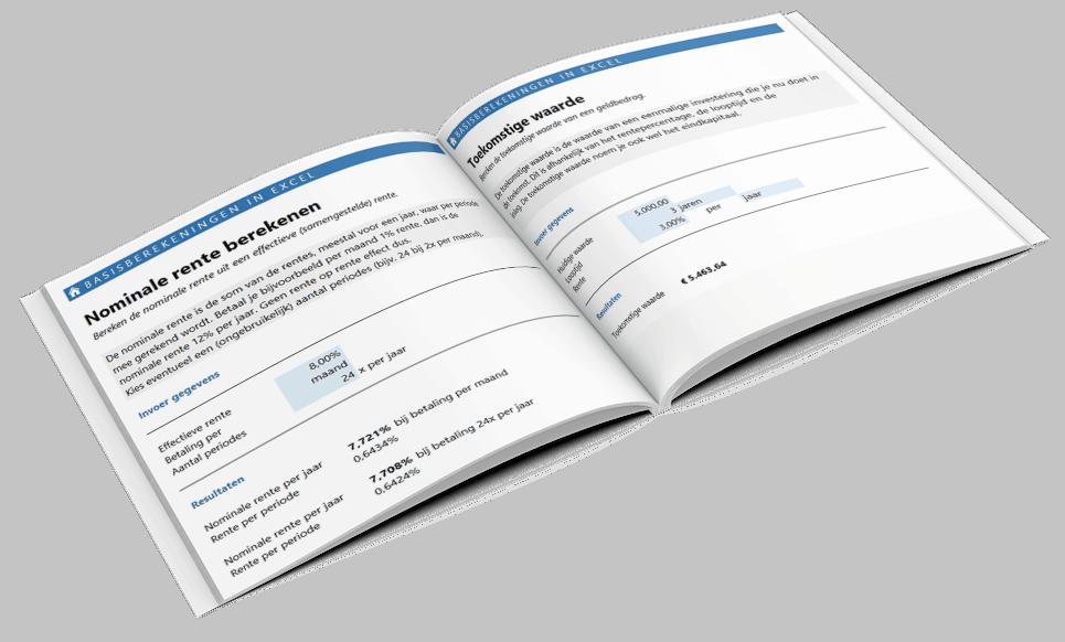 Renteberekeningen maken in Excel