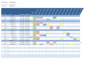 RACI matrix Excel