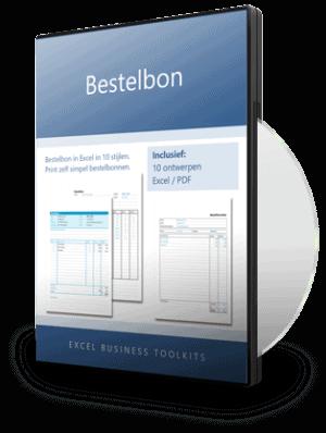 Bestelbon in Excel - 10 ontwerpen
