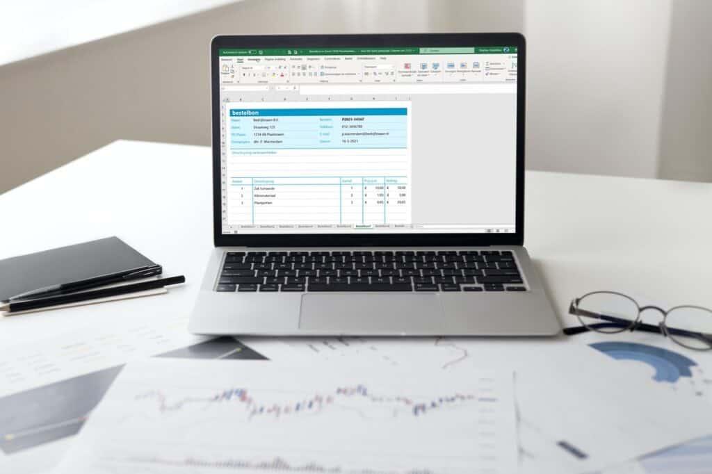 Bestelbon invullen met Excel