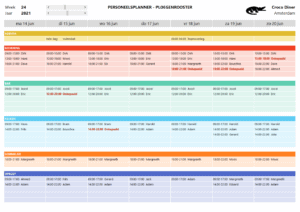 Personeelsplanner in Excel - Ploegenrooster