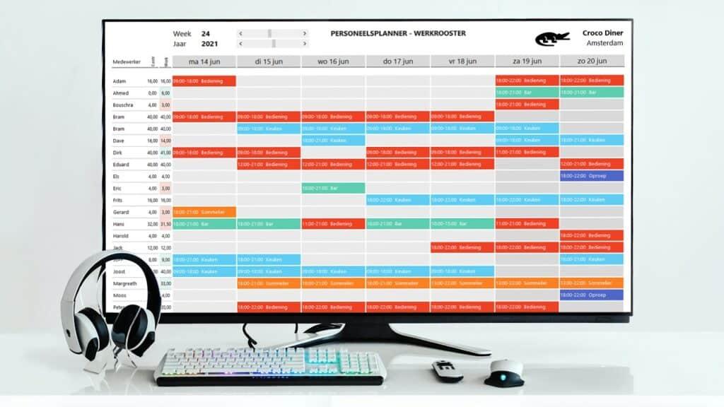 Personeelsplanning maken met Excel