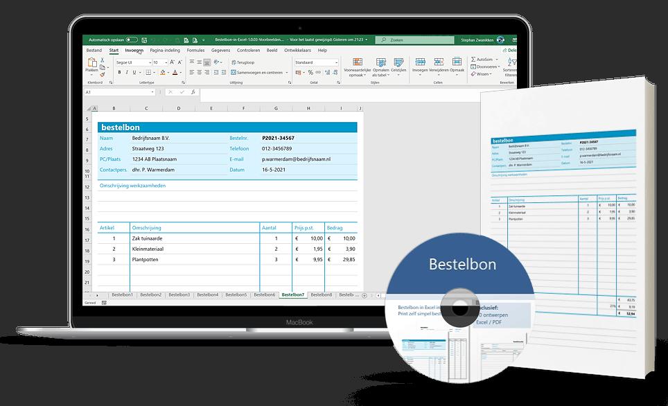 Excel bestelformulier maken
