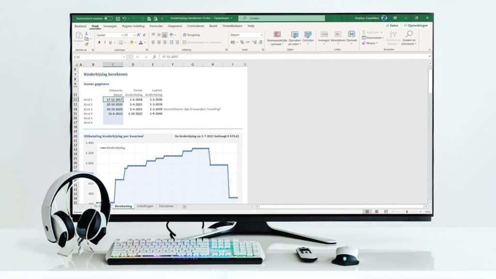 Kinderbijslag in Excel berekenen