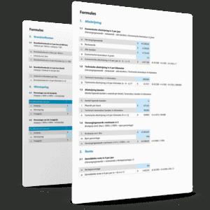 Samenvatting formules kostprijscalculatie