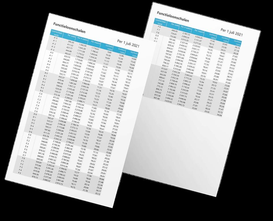 Functieloonschalen cao beroepsgoederenvervoer in Excel