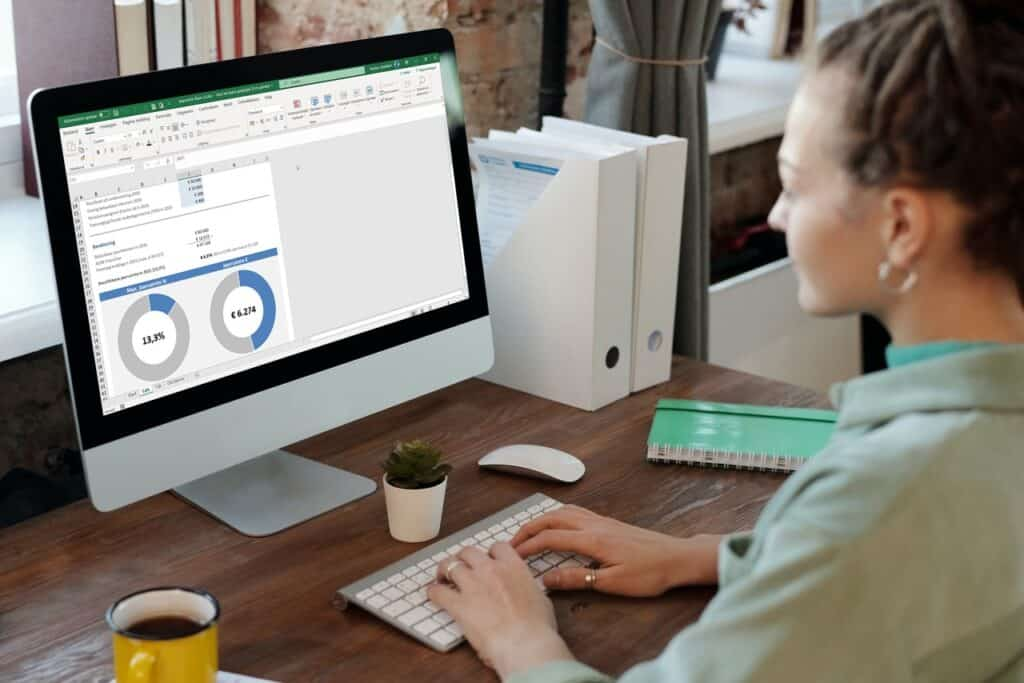 Pensioengat berekenen Excel