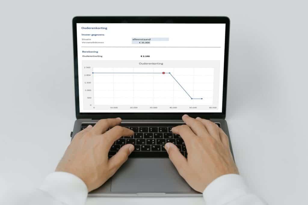 Ouderenkorting berekenen in Excel