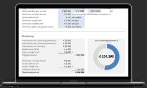 Bereken het toetsingsinkomen in Excel