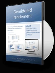 Gemiddeld rendement berekenen in Excel