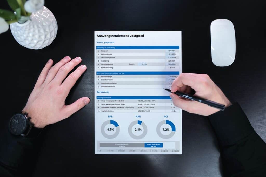 Aanvangsrendement vastgoed berekenen Excel