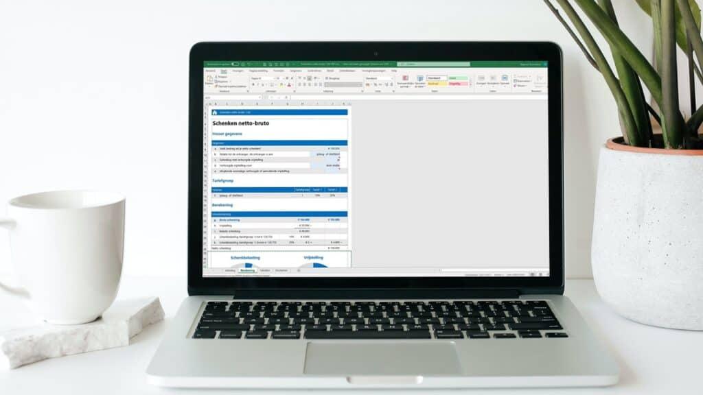 Schenken netto-bruto Excel