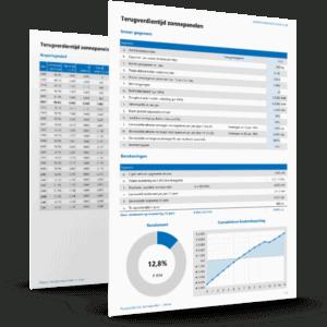 Terugverdientijd zonnepanelen berekenen in Excel