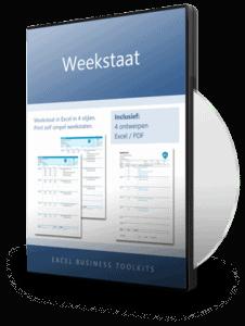 Weekstaat in Excel