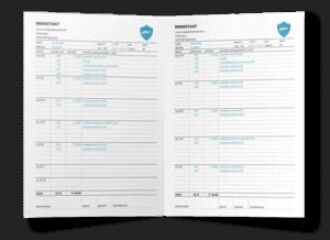 Voorbeeld weekstaat Excel