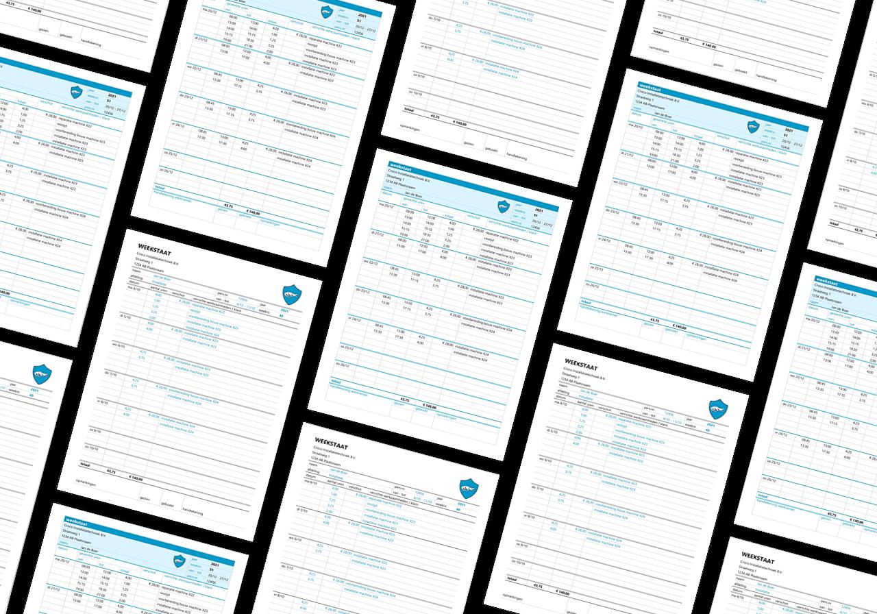 Weekstaten in Excel maken